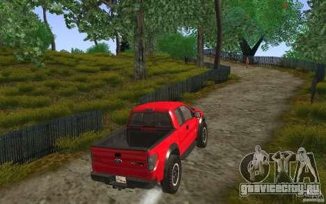 Ford F150 SVT RapTor для GTA San Andreas вид изнутри