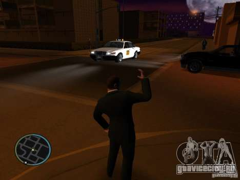 Такси мод для GTA San Andreas второй скриншот