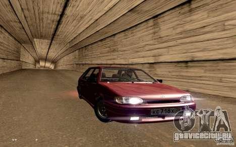 ВАЗ 2114 Quality для GTA San Andreas вид снизу