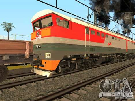 2ТЭ116 0013 РЖД для GTA San Andreas вид сзади слева