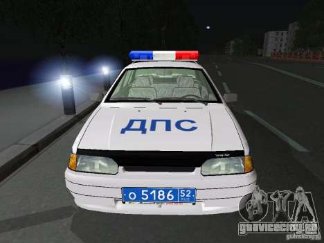 ВАЗ 2115 Полиция ДПС для GTA San Andreas вид изнутри