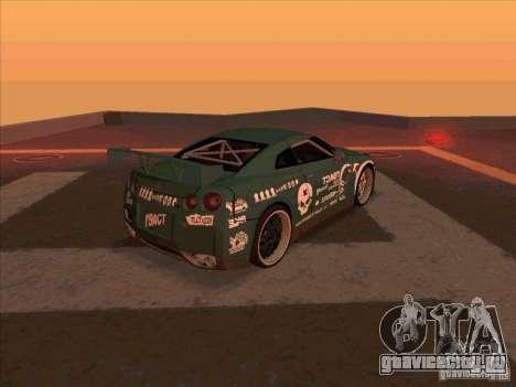 Nissan GT-R R35 rEACT для GTA San Andreas вид справа