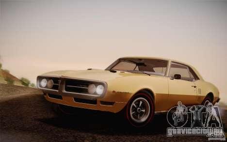 Pontiac Firebird 400 (2337) 1968 для GTA San Andreas вид сзади
