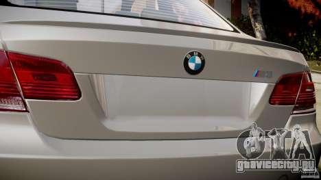 BMW M3 E92 для GTA 4 вид сверху