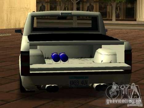 New Tuned Bobcat для GTA San Andreas вид сзади