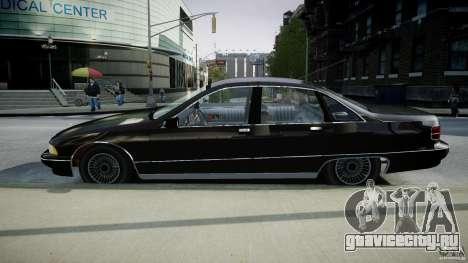 Chevrolet Caprice FBI v.1.0 [ELS] для GTA 4 вид изнутри
