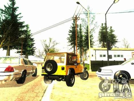Jeep Wrangler Convertible для GTA San Andreas вид сзади