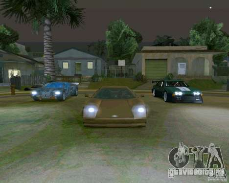 Infernus from Vice City для GTA San Andreas вид сзади