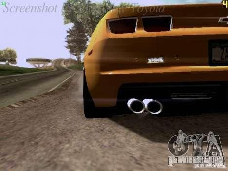 Chevrolet Camaro ZL1 2012 для GTA San Andreas вид изнутри