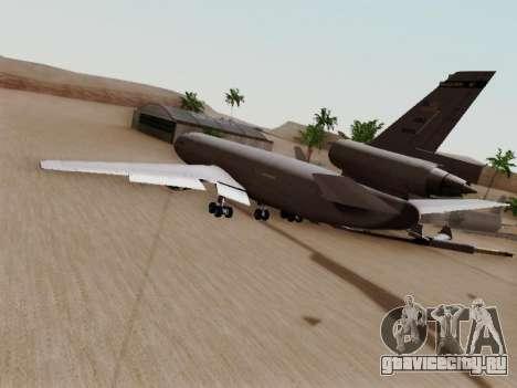 McDonell Douglas KC-10A Extender для GTA San Andreas вид сзади слева