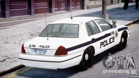 Ford Crown Victoria FBI Police 2003 для GTA 4 вид снизу