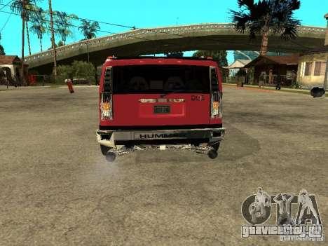 Hummer H2 Diablo для GTA San Andreas вид справа