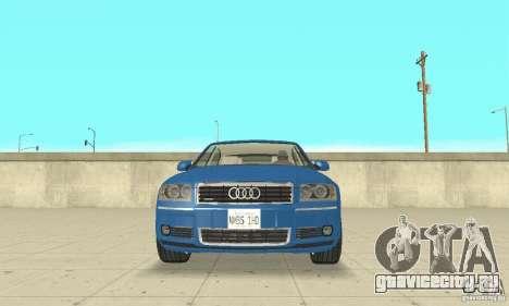 Audi A8L 4.2 FSI для GTA San Andreas салон