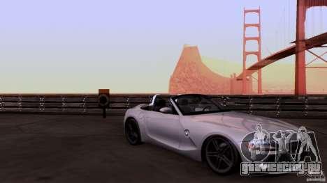 BMW Z4 V10 для GTA San Andreas вид изнутри