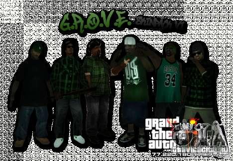 Grove Street Skin Pack для GTA San Andreas