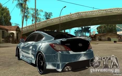 Hyundai Genesis Tuning для GTA San Andreas вид сзади слева