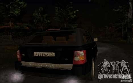 Land Rover Range Rover для GTA San Andreas вид справа