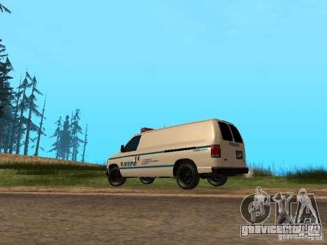 Ford E-150 NYPD Police для GTA San Andreas вид сзади слева