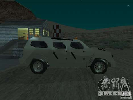 FBI Truck from Fast Five для GTA San Andreas вид слева