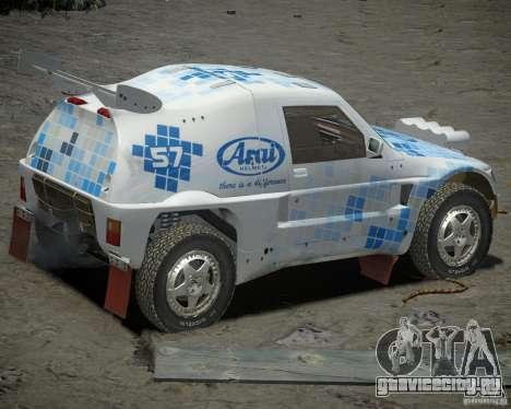 Mitsubishi Pajero Proto Dakar EK86 винил 3 для GTA 4 вид справа