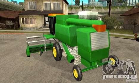 Combine Harvester Retextured для GTA San Andreas вид сзади слева