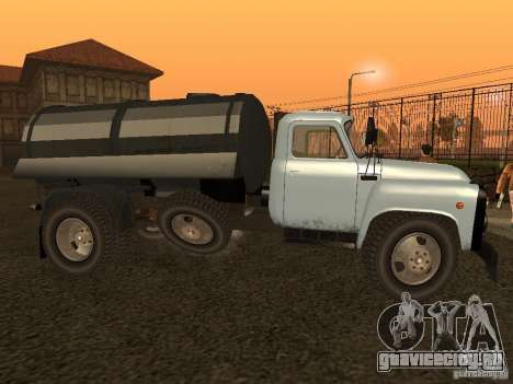 ГАЗ 53 Ассенизатор для GTA San Andreas вид слева