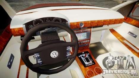 Volkswagen Pheaton W12 для GTA 4 вид справа