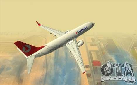Boeing 737-800 THY для GTA San Andreas