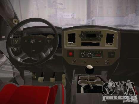 Dodge Ram SRT-10 для GTA San Andreas вид сзади