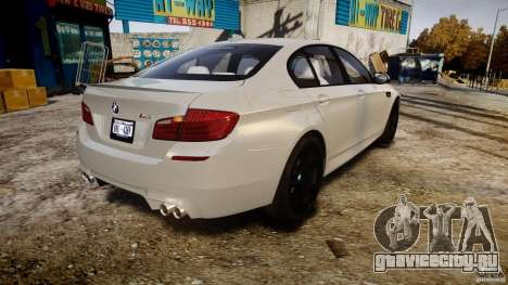 BMW M5 F10 2012 для GTA 4 вид сбоку