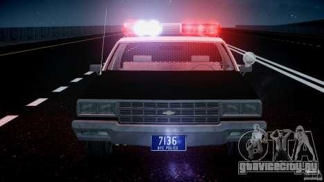 Chevrolet Impala Police 1983 [Final] для GTA 4 двигатель