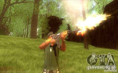 Автомат Калашникова HD для GTA San Andreas третий скриншот