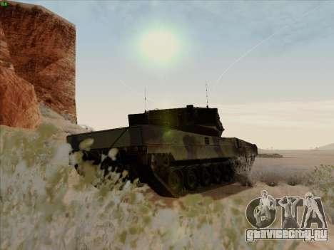 Leopard 2A6 для GTA San Andreas вид справа