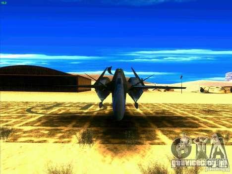 ADF-01 Falken для GTA San Andreas вид сзади
