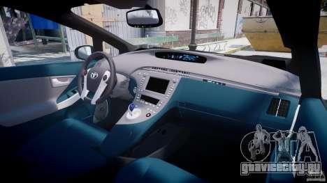 Toyota Prius 2011 PHEV Concept для GTA 4 вид сверху