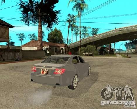 Cheverolet Epica для GTA San Andreas вид сзади слева