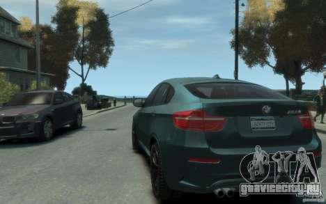 BMW X6-M 2010 для GTA 4 вид сзади слева