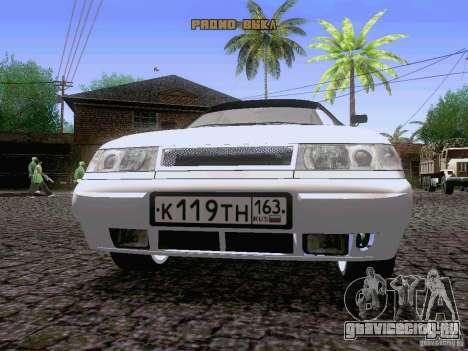 ВАЗ 21103 Maxi для GTA San Andreas вид изнутри