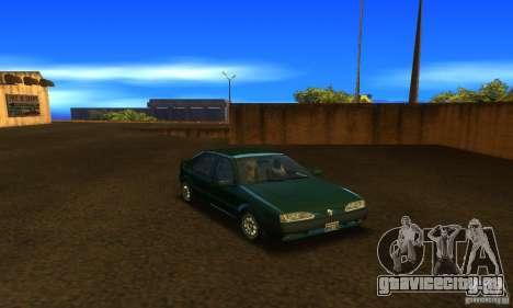 Renault 19 PHASE II для GTA San Andreas вид сзади