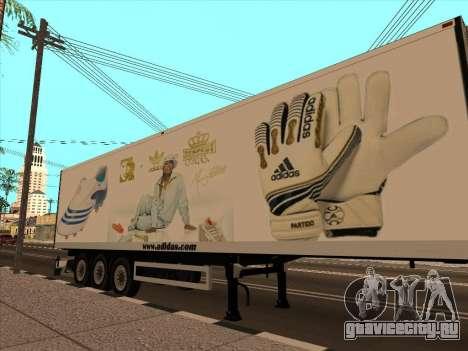 Прицеп Adidas для GTA San Andreas вид сверху