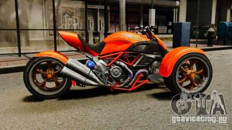 Ducati Diavel Reversetrike для GTA 4 вид слева