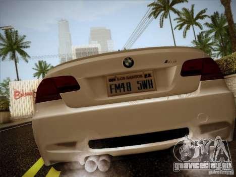 BMW E92 v2 Updated для GTA San Andreas вид сзади слева