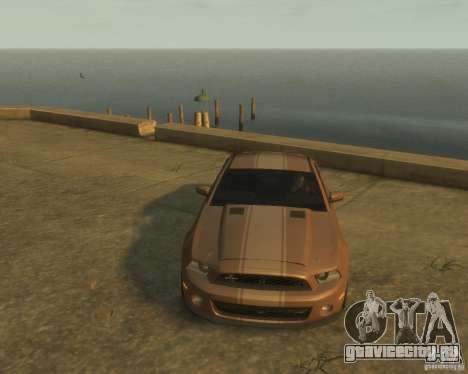 2011 Shelby GT500 Super Snake для GTA 4 вид сзади