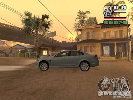 Pontiac G8 GXP для GTA San Andreas вид слева