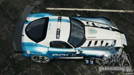 Dodge Viper SRT-10 ACR ELITE POLICE для GTA 4 вид справа