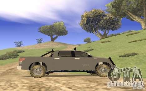 Toyota Tundra 4x4 для GTA San Andreas вид изнутри