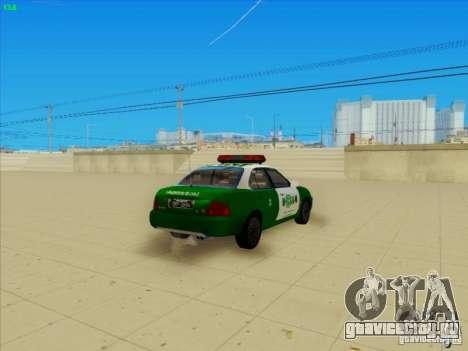 Nissan Sentra Carabineros De Chile для GTA San Andreas вид сзади слева