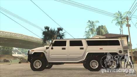Hummer H6 для GTA San Andreas вид слева
