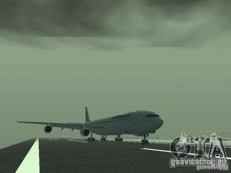 Airbus A340-300 Air France для GTA San Andreas вид слева