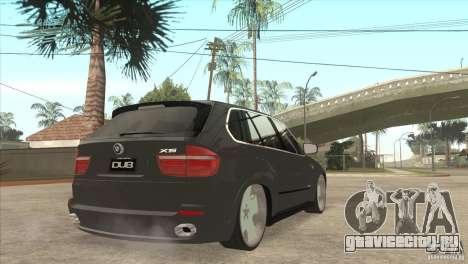 BMW X5 dubstore для GTA San Andreas вид справа